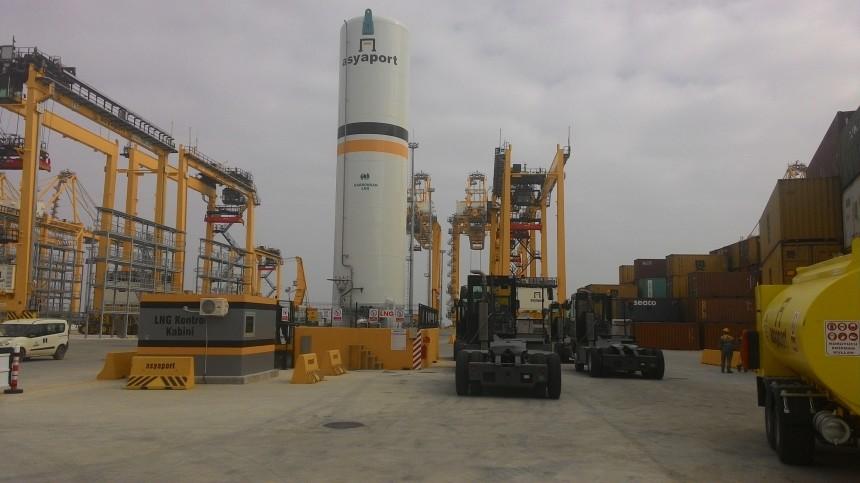 Türkiye'nin İlk LNG İstasyonu Asyaport'da 2'nci Yılını Doldurdu