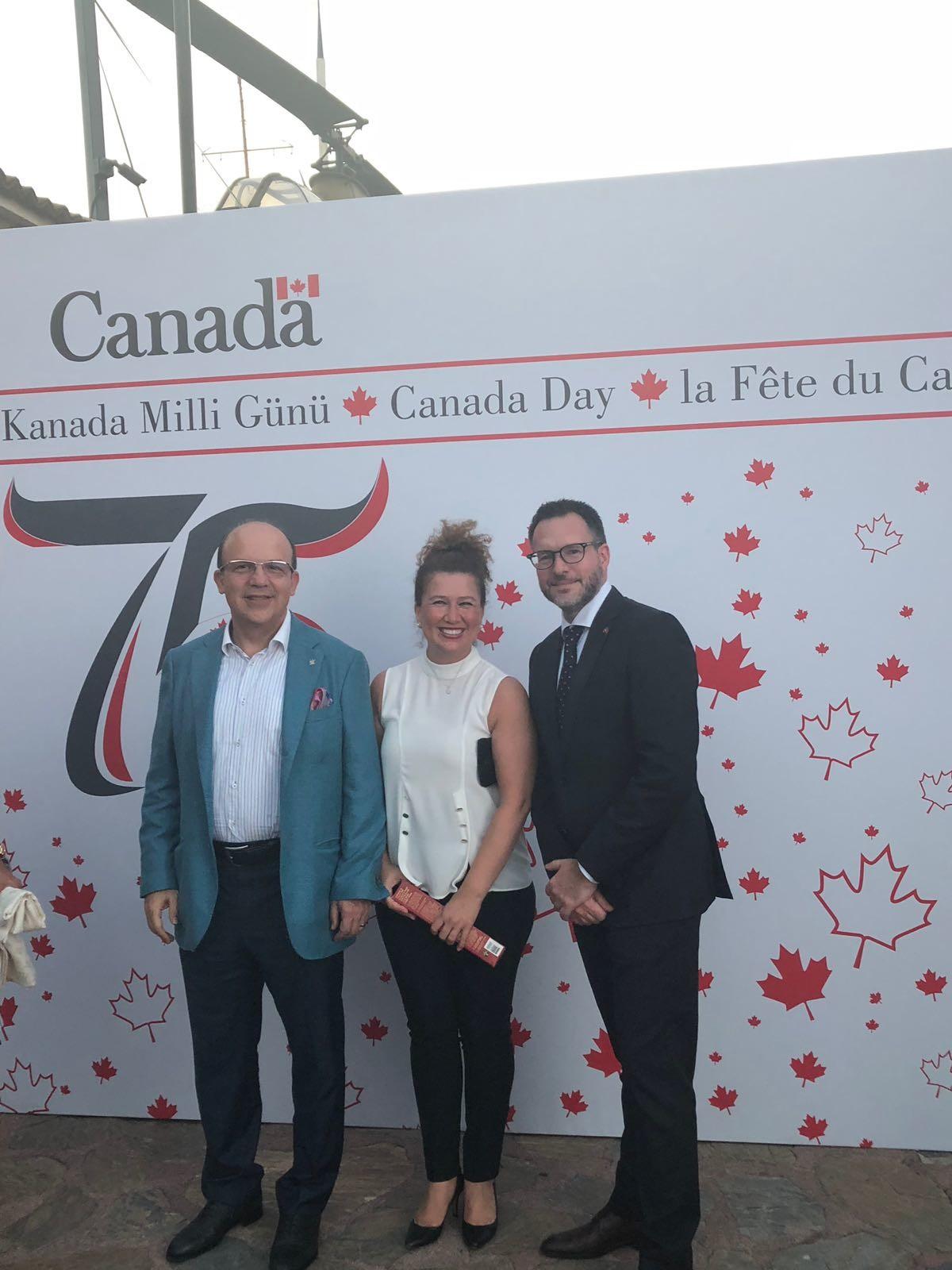 Kanada Milli Günü resepsiyonuna Kanada Okulları da...